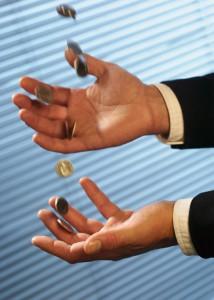 Graphic: money in hands